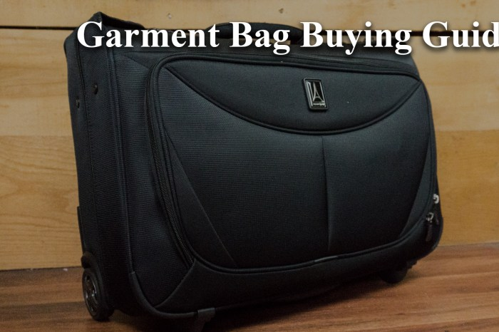 Garment Bag Buying Guide
