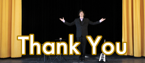 Brian Miller Magic Thanksgiving Thank You header