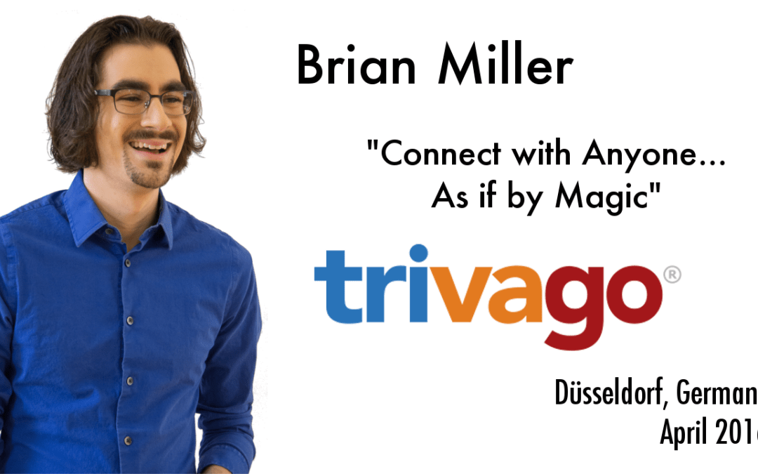 Connecting with Trivago in Germany