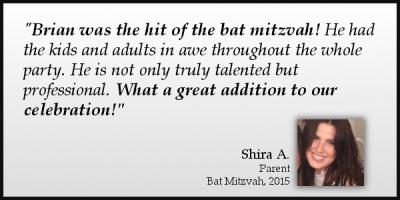 Magician Brian Miller mitzvah testimonial Shira A