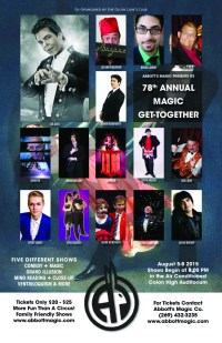 Abbott's Get Together 2015 poster Connecticut magician Brian Miller