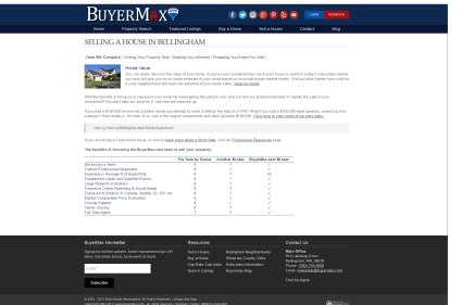 New Sell a House Page