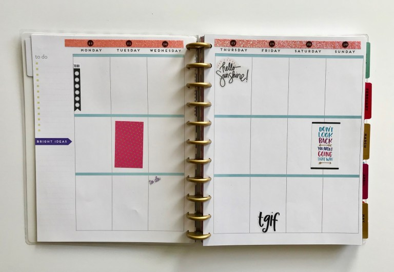 Planner 365 January 2019 Weekly Spread