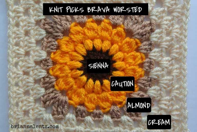 Crochet Sunflower Granny Square IMG 3