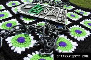 Beetlejuice Crochet Blanket Photo 2 With Props