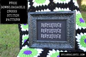 Main Photo of Beetlejuice downloadble free cross stitch pattern