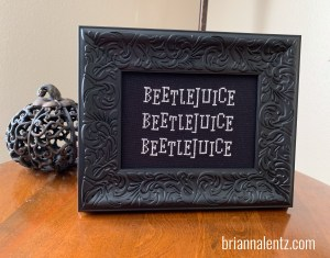 Finished Product photo of Beetlejuice Picture Frame