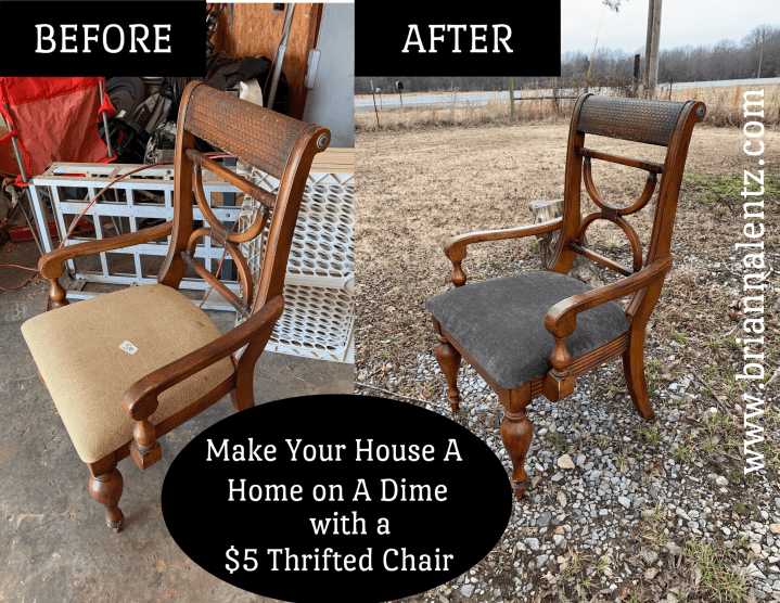 How to Makeover A Thrift Store Chair on A Dime – A Tutorial