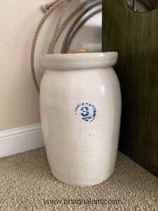 Eagle Pottery 3 Gallon Crock Benton Arkansas full size picture
