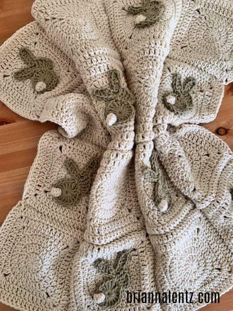 Crochet Bunny Blanket Pic 5