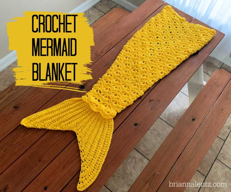 Crochet Mermaid Blanket Main Pic