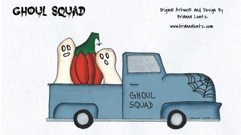 Ghoul Squad Painting 1 With Signature Brianna Lentz copy-2
