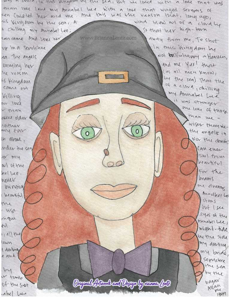 Portrait of a Witch Original Art by Brianna Lentz With Watermark