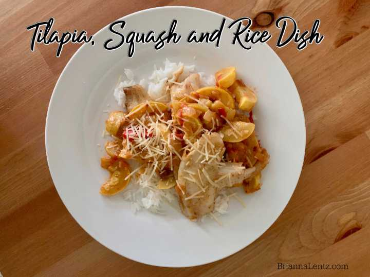 Tilapia Squash and Rice Dish Recipe