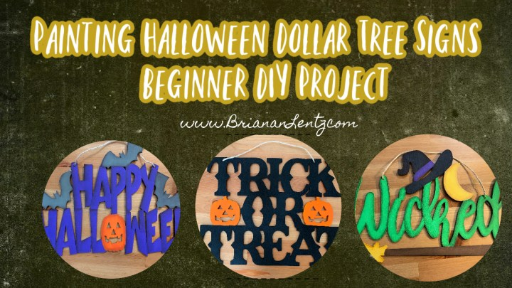 Painting Halloween Dollar Tree Signs | Beginner DIY Project