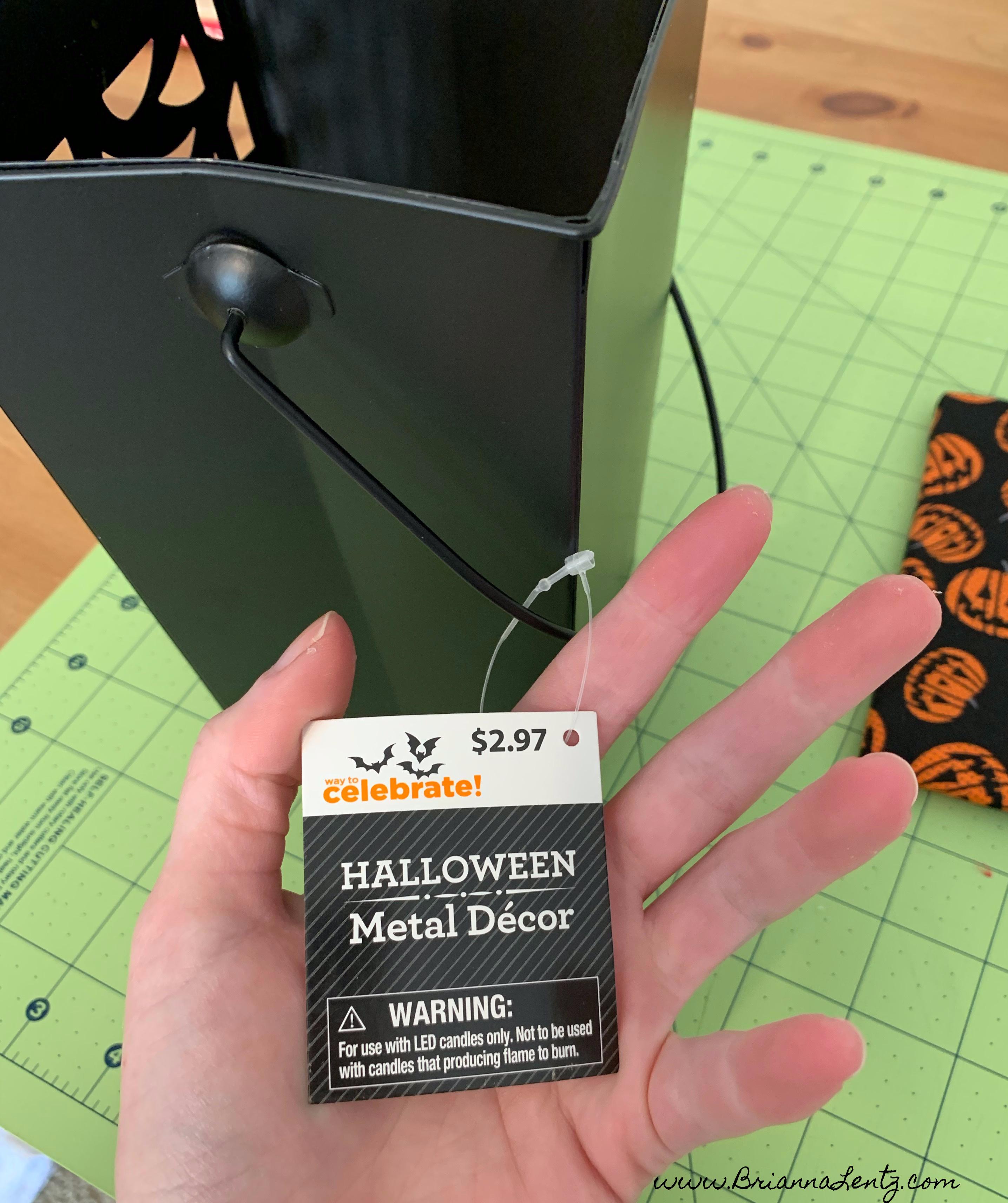 Wal Mart Halloween Metal Decor