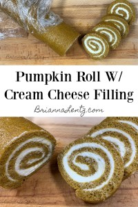 Brianna Lentz Recipe Pumpking Roll With Cream Cheese FIlling 2021