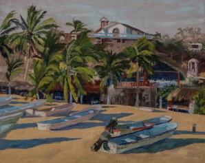 Puerto Angel, 16x20, Oil on linen, Sold