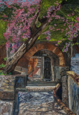 Arquitos Entry, 24x16, Oil on linen - $950