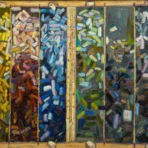 Pastel Tray, 16x20, Oil on linen - $650