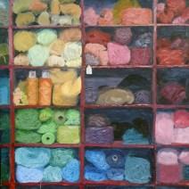 Yarn Bin, 20x16, Oil on canvas - $2,500