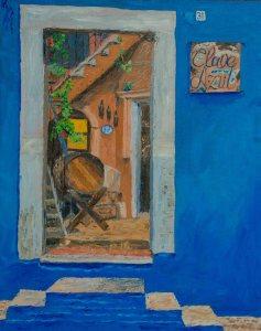 Clave Azul, 16x20, Oil on linen, $800