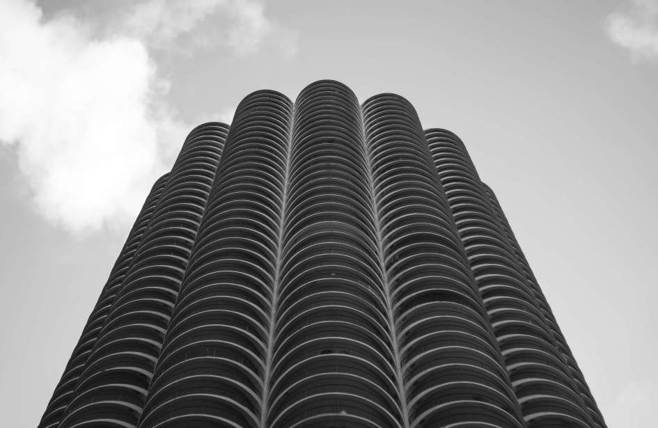 Marina Towers - Looking Up from Dearborn Street