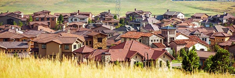 homes in a Denver, Colorado neighborhood