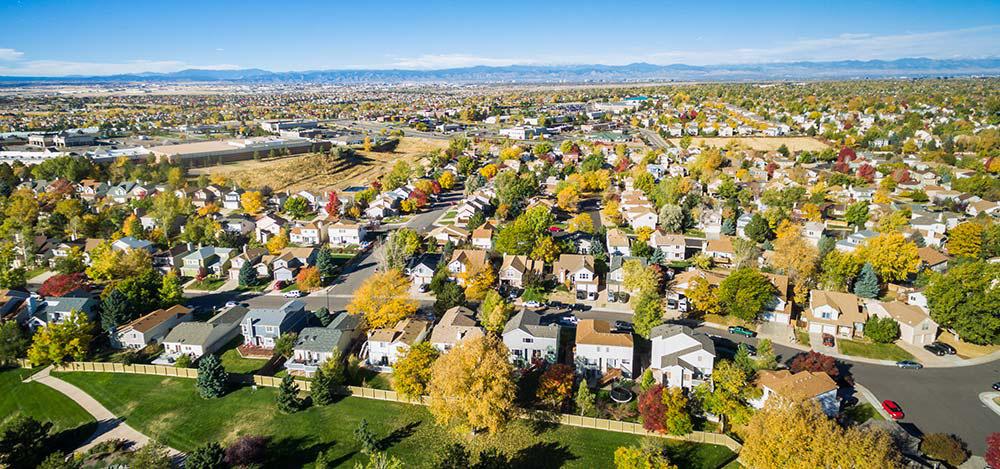 Aurora Colorado in the fall