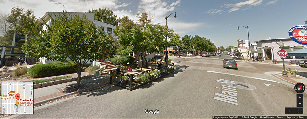 Louisville Colorado Main Street Shopping and Restaurants