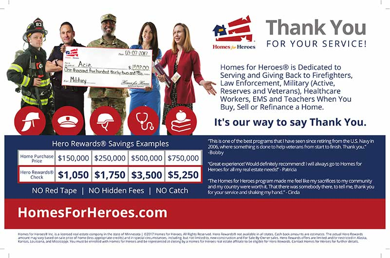 Savings chart for homes for heroes