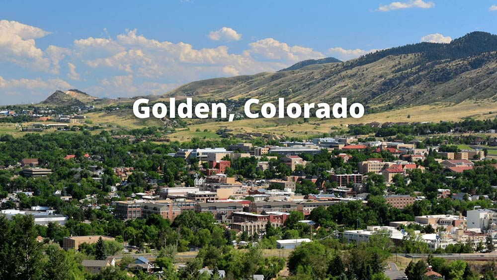 Photo overlooking the downtown area that people living in Golden, CO get to enjoy often.