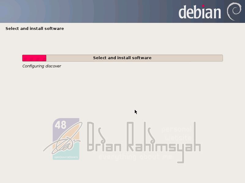 Debian 7 select install software