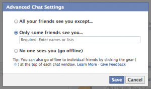 Facebook Chat Settings