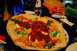 AMAZING Ethiopian plate in Milan.