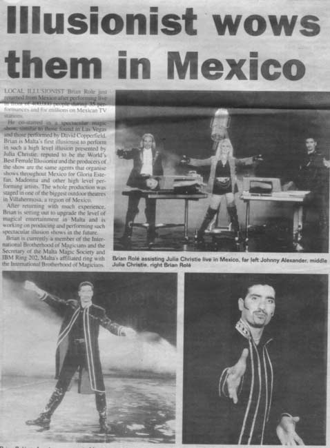 Independent Malta 2000 Magician Wows Them In Mexico - Magician Malta