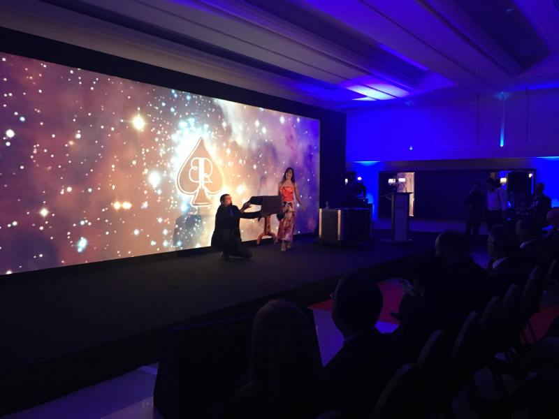 Magician Malta Brian Role and Lola Palmer perform their act at the Malta Star Awards
