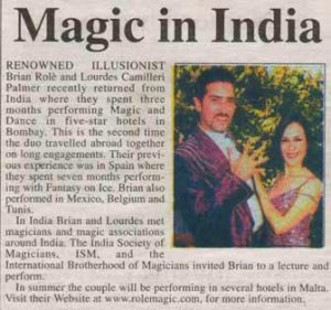 International Performances - Magic in India