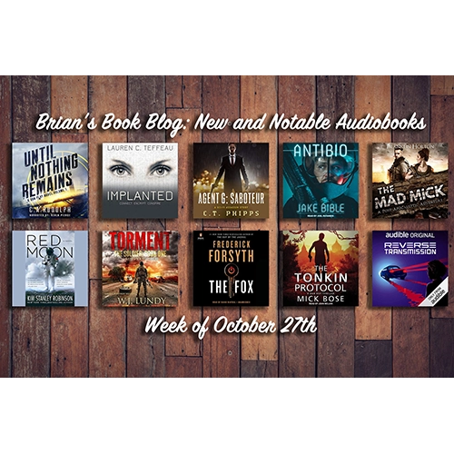 October 27th New And Notable Audiobooks On Brian S Book Blog Brian S Book Blog