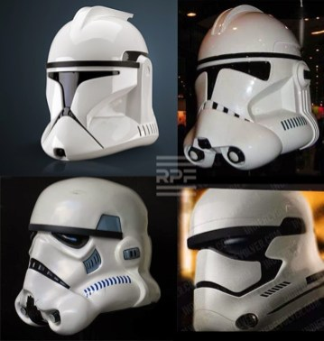 Evolution of the Star Wars Stormtrooper helmet