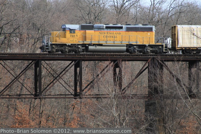 New England Central at Millers Falls, Massachusetts.