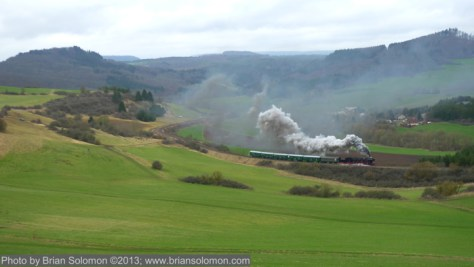 German steam near Gerolstein