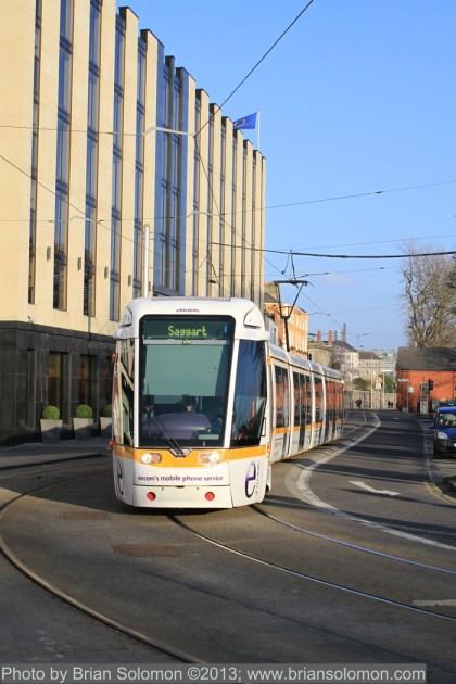 Tram in Dublin