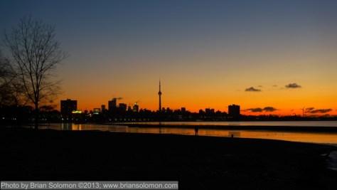 Sunrise on Lake Ontario, February 8, 2010. Lumix LX-3 on tripod.