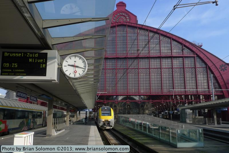 Station at Antwerp, Belgium.
