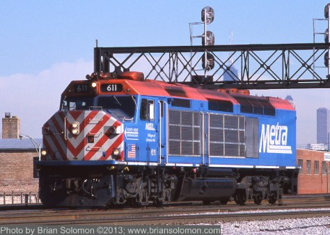 Metra F40C number 611 in February 2003.