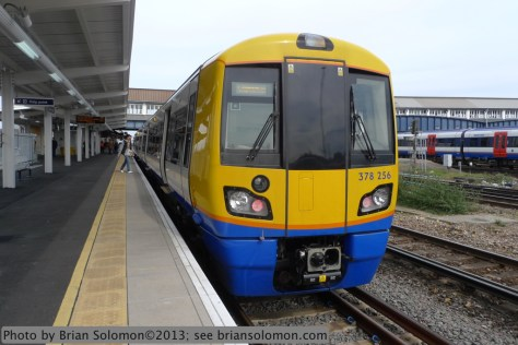 London Overground train at Clapham Junction. Lumix LX3 photo.