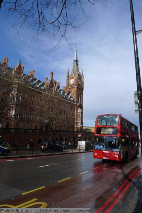 Sir George Gilbert Scott's Midland Grand Hotel along Euston Road, London, on the afternoon of April 18, 2013.