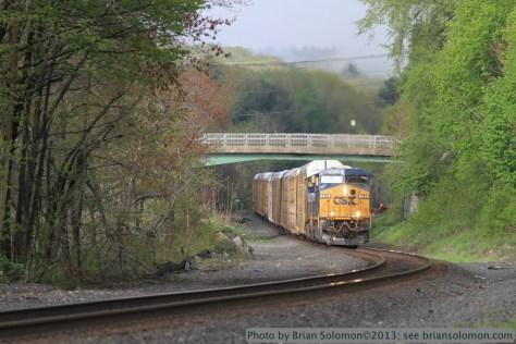 CSX Q264 at West Warren, Massachusetts.