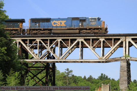 CSX on bridge.